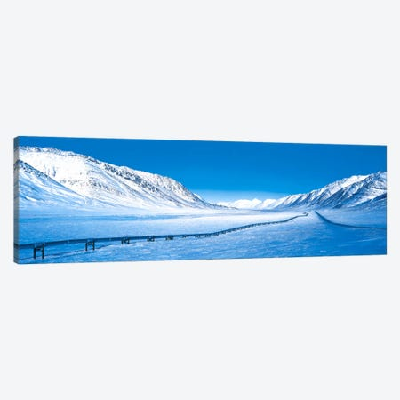 Alaska Pipeline Brooks Range AK 3-Piece Canvas #PIM413} by Panoramic Images Canvas Art Print