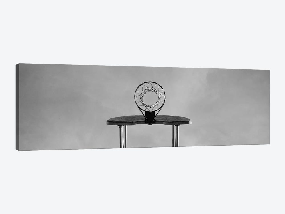 Low angle view of a basketball hoop by Panoramic Images 1-piece Canvas Print