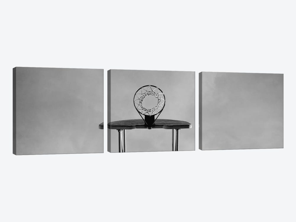 Low angle view of a basketball hoop by Panoramic Images 3-piece Canvas Print