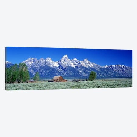 John Moulton Barn, Mormon Row, Grand Teton National Park, Jackson Hole, Wyoming, USA Canvas Print #PIM4149} by Panoramic Images Canvas Artwork