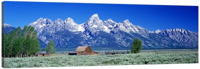 John Moulton Barn, Mormon Row, Grand Teton National Park, Jackson Hole, Wyoming, USA Canvas Print #PIM4149