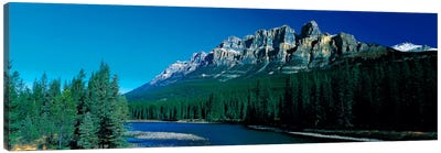 Castle Mountain Banff National Park Alberta Canada Canvas Print #PIM414