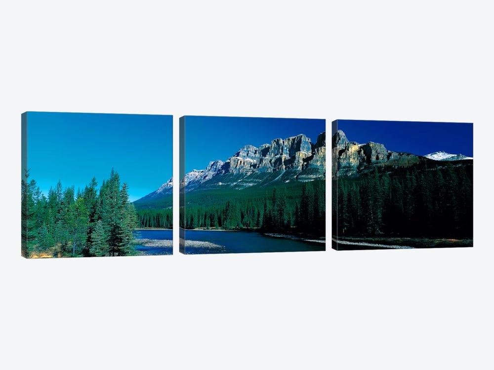 Castle Mountain Banff National Park Alberta Canada 3-piece Canvas Wall Art