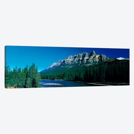 Castle Mountain Banff National Park Alberta Canada Canvas Print #PIM414} by Panoramic Images Canvas Wall Art