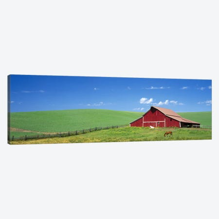 Red Barn in Washington State Canvas Print #PIM4150} by Panoramic Images Art Print