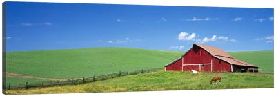 Red Barn in Washington State Canvas Art Print