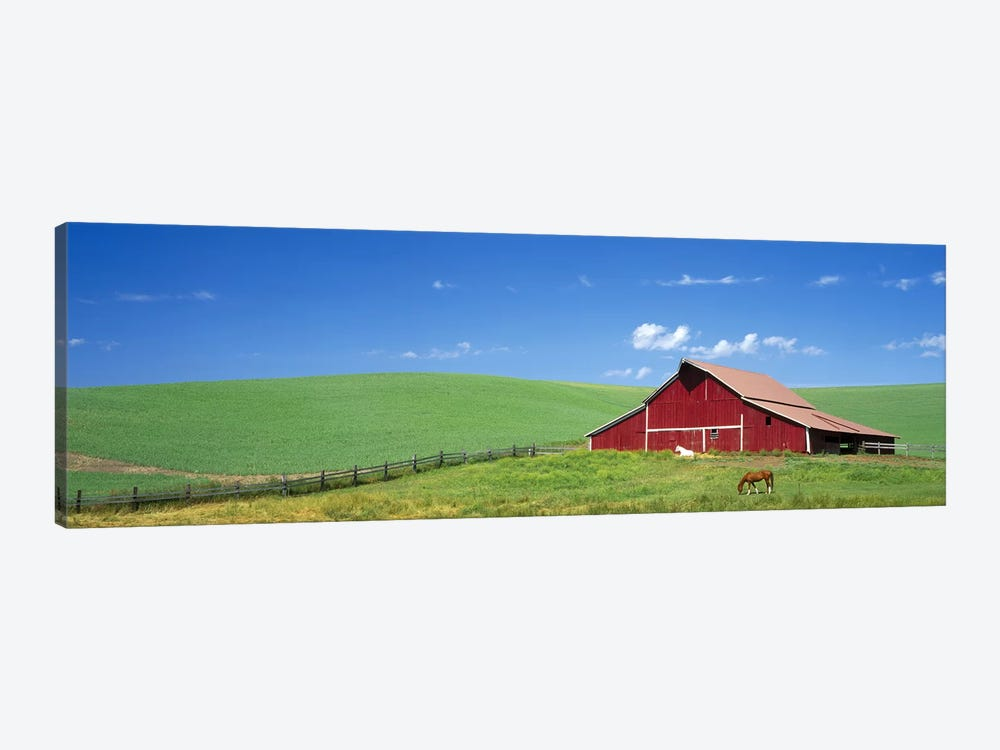 Red Barn in Washington State by Panoramic Images 1-piece Canvas Art