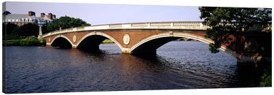 Arch bridge across a river, Anderson Memorial Bridge, Charles River, Boston, Massachusetts, USA Canvas Art Print