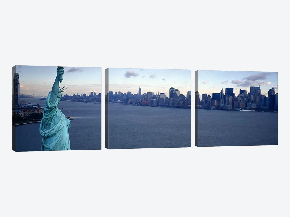 USA, New York, Statue of Liberty #2 by Panoramic Images 3-piece Canvas Art Print