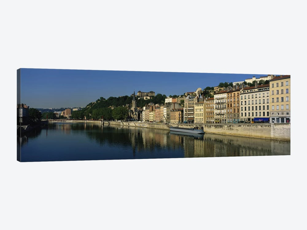 Architecture Along The Saone River, Lyon, Auvergne-Rhone-Alpes, France by Panoramic Images 1-piece Art Print