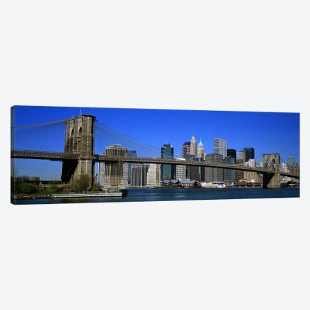 USA, New York, Brooklyn Bridge Canvas Print #PIM4171} by Panoramic Images Canvas Print