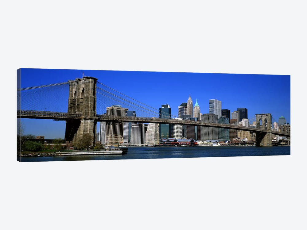 USA, New York, Brooklyn Bridge by Panoramic Images 1-piece Canvas Print