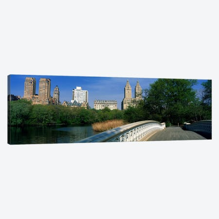 View Of Historic Buildings Along Central Park West From Bow Bridge, New York City, New York, USA Canvas Print #PIM4174} by Panoramic Images Canvas Art
