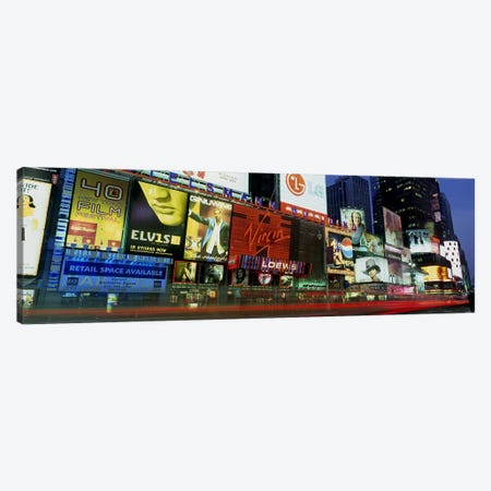 Billboards On Buildings In A City, Times Square, NYC, New York City, New York State, USA Canvas Print #PIM4175} by Panoramic Images Canvas Artwork
