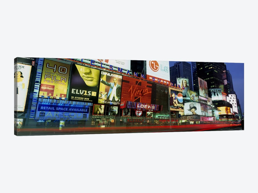 Billboards On Buildings In A City, Times Square, NYC, New York City, New York State, USA by Panoramic Images 1-piece Canvas Print