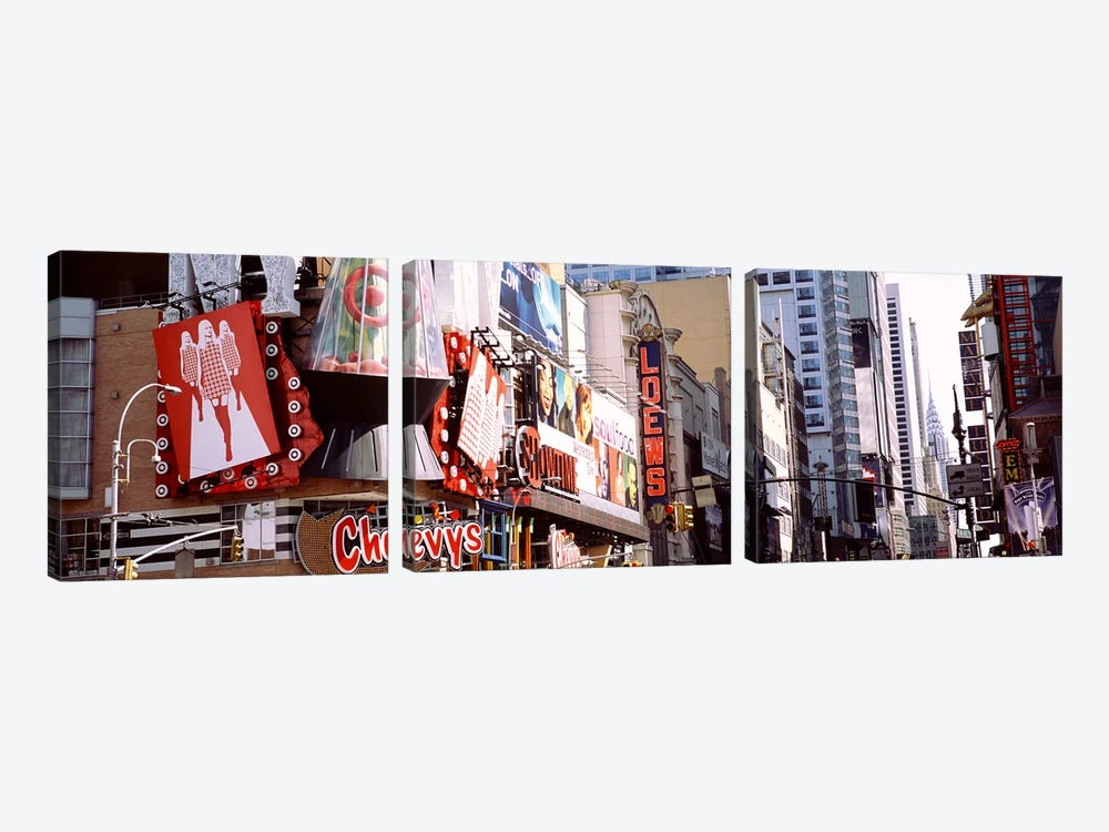 Times Square, NYC, New York City, New York State, USA by Panoramic Images 3-piece Canvas Print