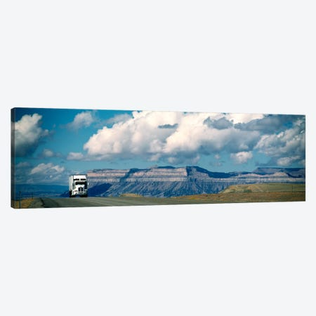 Lone Semi-Truck On Interstate 70, Green River, Utah, USA Canvas Print #PIM417} by Panoramic Images Canvas Art