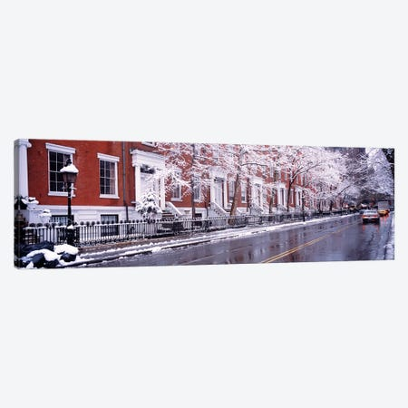 Winter, Snow In Washington Square, NYC, New York City, New York State, USA Canvas Print #PIM4183} by Panoramic Images Canvas Artwork