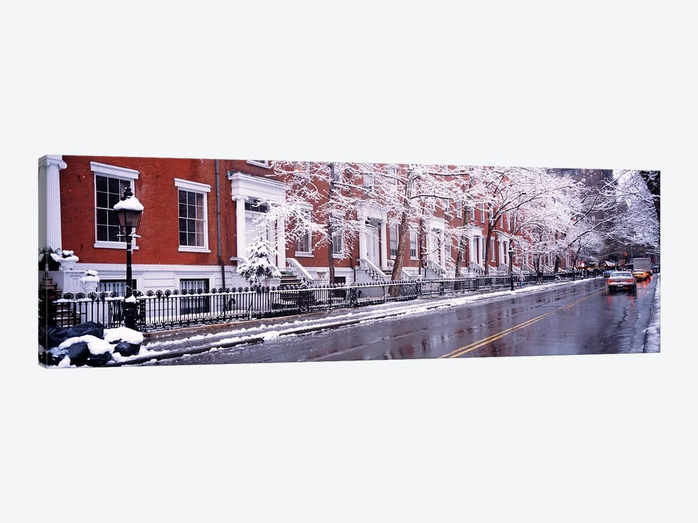 Winter, Snow In Washington Square, NYC, New York City, New York State, USA by Panoramic Images 1-piece Canvas Wall Art