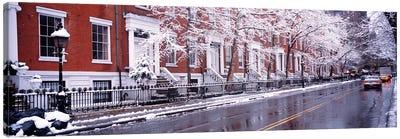 Winter, Snow In Washington Square, NYC, New York City, New York State, USA Canvas Art Print