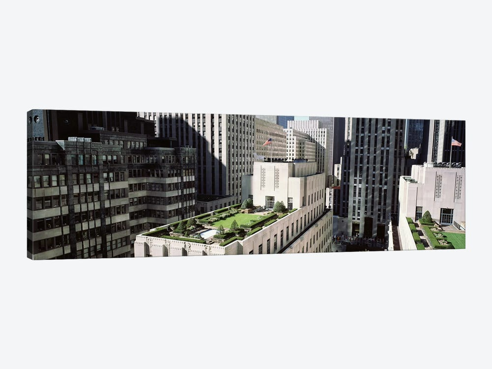 Rooftop Garden, Rockefeller Center, New York City, New York, USA by Panoramic Images 1-piece Canvas Artwork