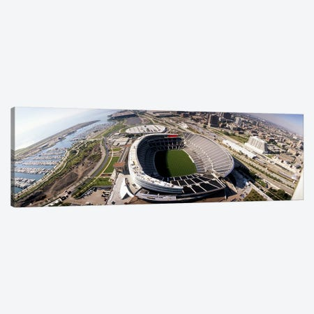 Aerial view of a stadium, Soldier Field, Chicago, Illinois, USA Canvas Print #PIM4193} by Panoramic Images Canvas Art Print