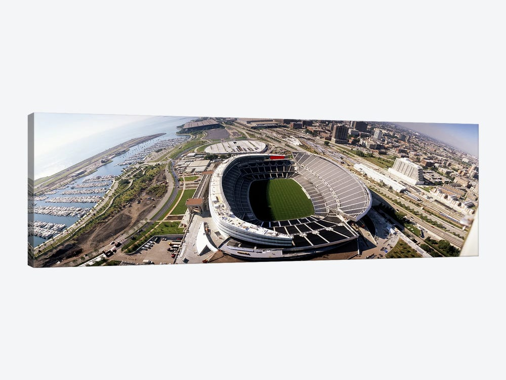Aerial view of a stadium, Soldier Field, Chicago, Illinois, USA by Panoramic Images 1-piece Art Print