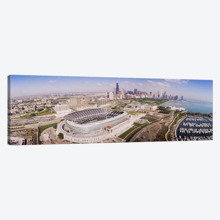 Aerial view of a stadium, Soldier Field, Chicago, Illinois, USA #2 Canvas Print #PIM4194} by Panoramic Images Canvas Art