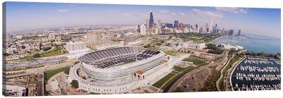 Aerial view of a stadium, Soldier Field, Chicago, Illinois, USA #2 Canvas Print #PIM4194