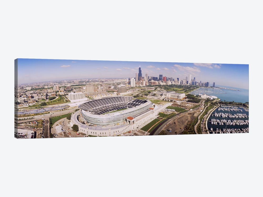 Aerial view of a stadium, Soldier Field, Chicago, Illinois, USA #2 by Panoramic Images 1-piece Canvas Art