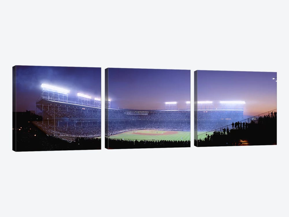 Baseball, Cubs, Chicago, Illinois, USA by Panoramic Images 3-piece Canvas Art Print
