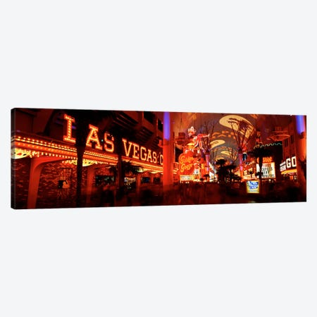 Fremont Street Experience Las Vegas NV USA #5 Canvas Print #PIM419} by Panoramic Images Art Print