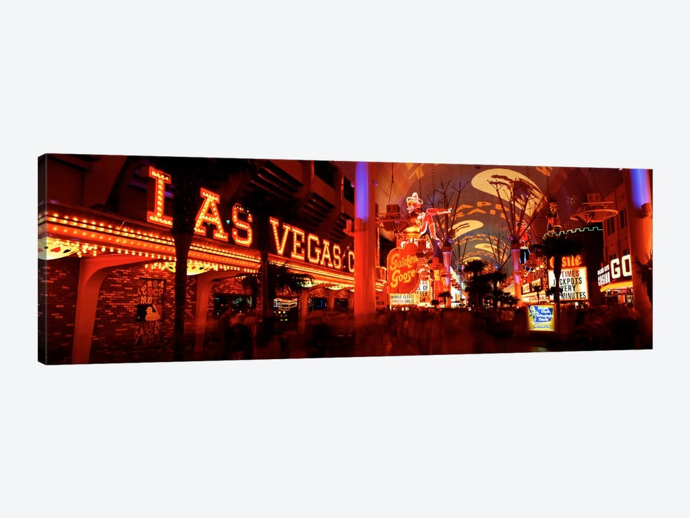 Fremont Street Experience Las Vegas NV USA #5 by Panoramic Images 1-piece Canvas Print
