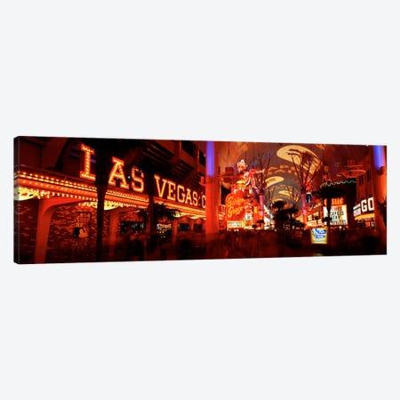 Fremont Street Experience Las Vegas NV USA #5 Canvas Print #PIM419} by Panoramic Images Art Print