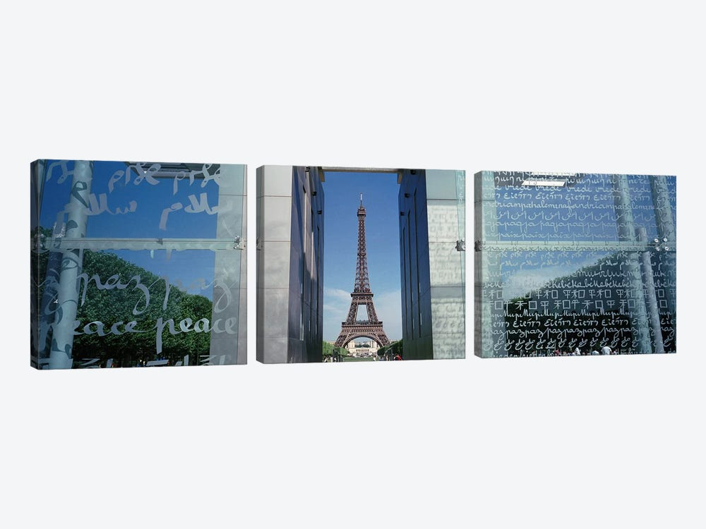 Eiffel Tower Paris France by Panoramic Images 3-piece Canvas Art Print