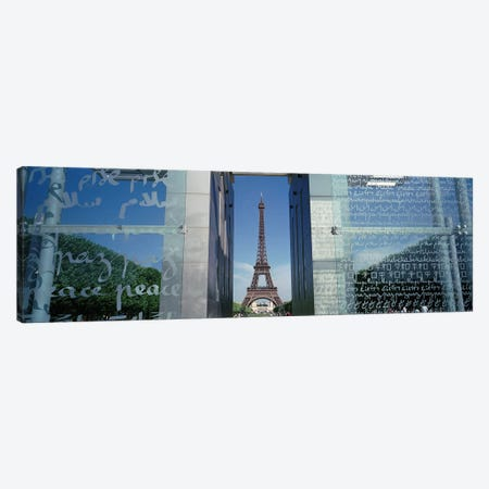 Eiffel Tower Paris France Canvas Print #PIM4200} by Panoramic Images Art Print