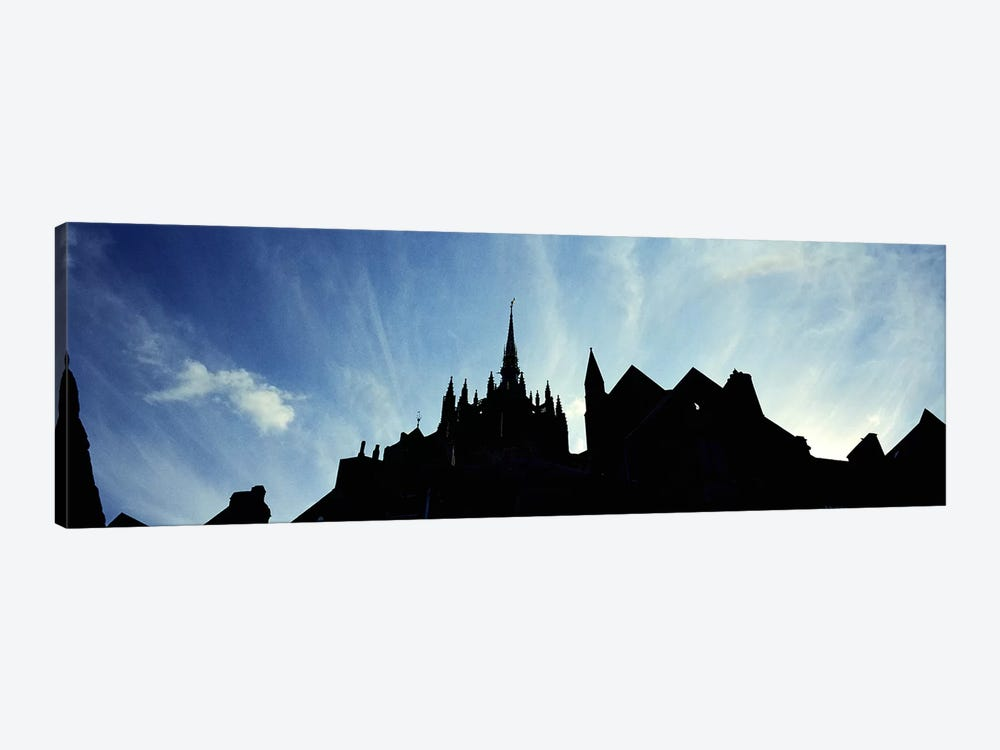 France, Normandy, Mont St. Michel, Silhouette of a Church by Panoramic Images 1-piece Canvas Wall Art
