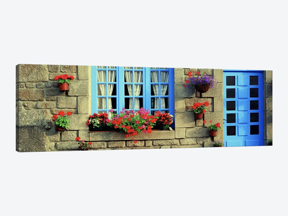 Flower Laden Façade, Locronan, Brittany, France by Panoramic Images 1-piece Art Print
