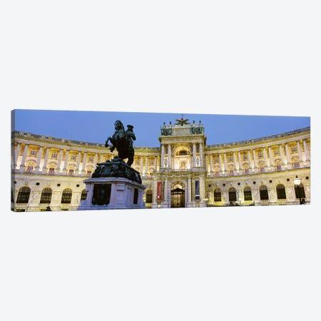 Illuminated Façade, Austrian National Library (Osterreichische Nationalbibliothek), Hofburg, Vienna, Austria Canvas Print #PIM4207} by Panoramic Images Canvas Art