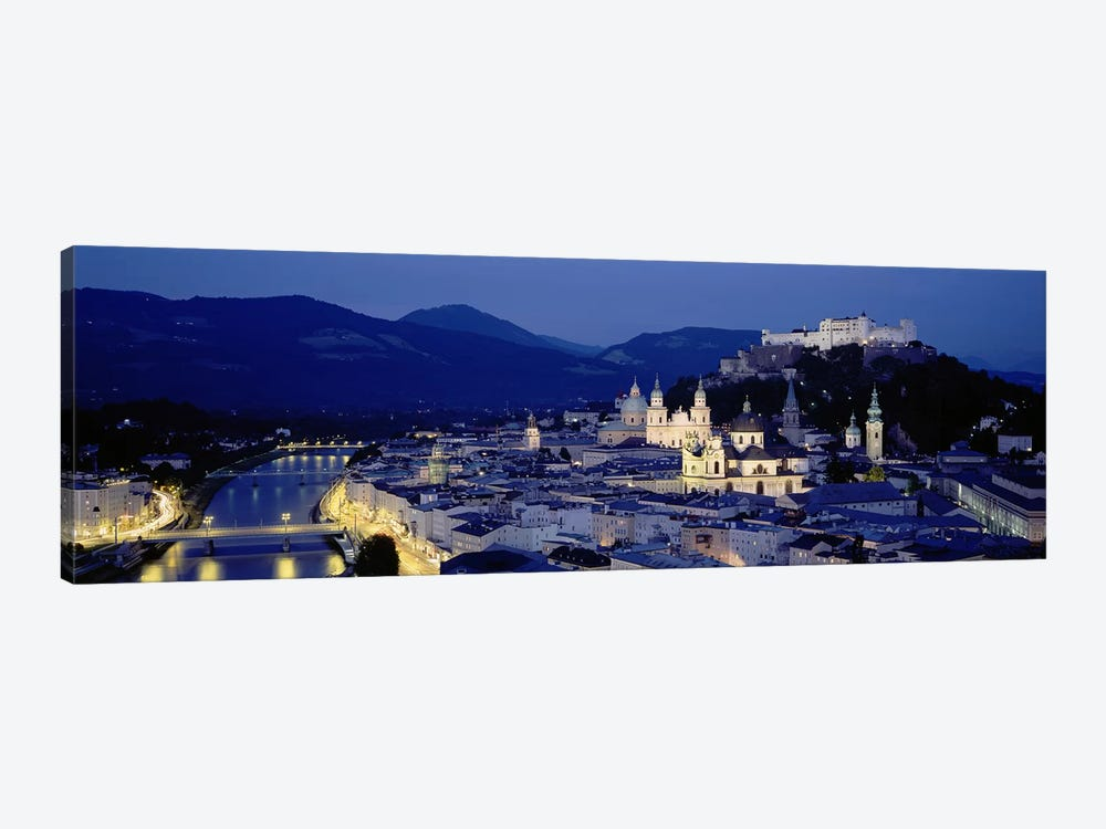 High Angle View Of Buildings In A City, Salzburg, Austria by Panoramic Images 1-piece Canvas Art