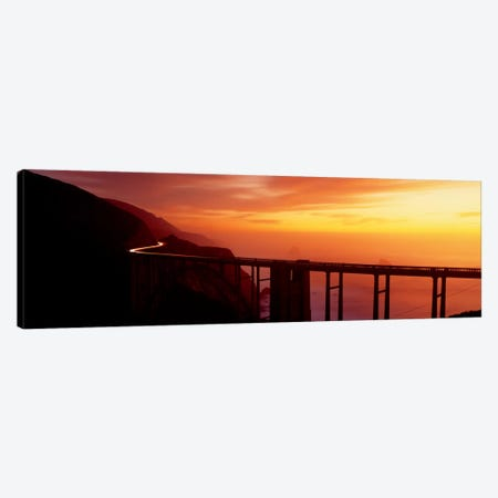 Dusk Hwy 1 w/ Bixby Bridge Big Sur CA USA Canvas Print #PIM420} by Panoramic Images Canvas Art