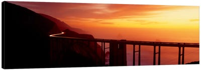 Dusk Hwy 1 w/ Bixby Bridge Big Sur CA USA Canvas Print #PIM420
