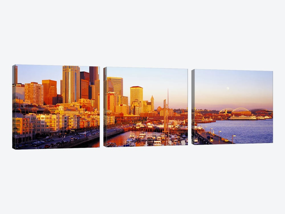 Seattle Washington USA by Panoramic Images 3-piece Canvas Artwork