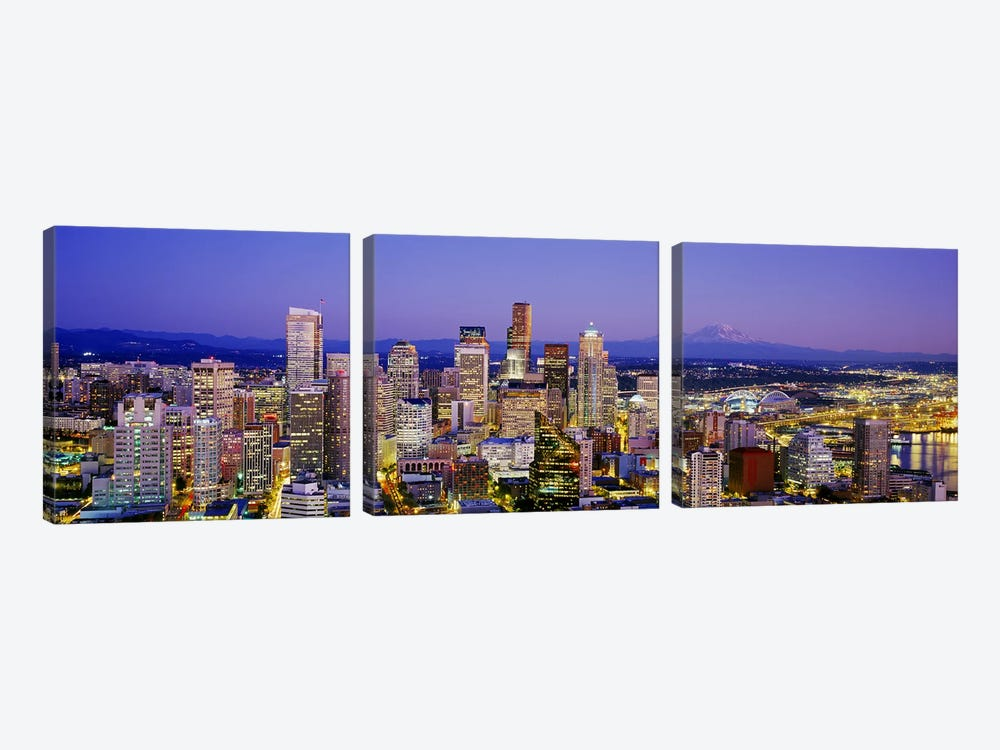 SeattleWashington State, USA by Panoramic Images 3-piece Canvas Art Print