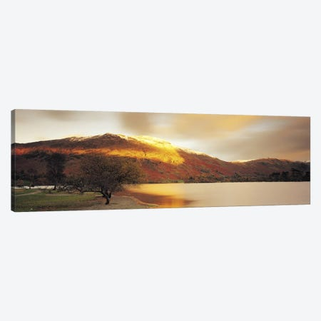 Golden Autumn Sunlight, Ullswater, Lake District, England, United Kingdom Canvas Print #PIM4213} by Panoramic Images Canvas Wall Art