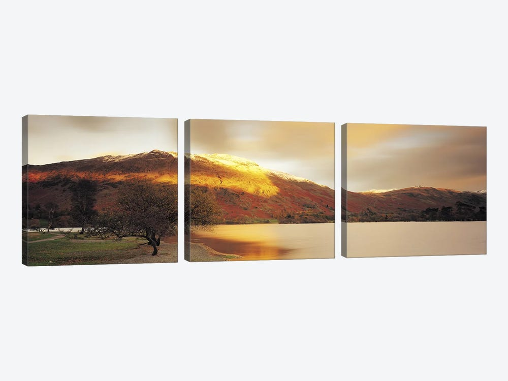 Golden Autumn Sunlight, Ullswater, Lake District, England, United Kingdom by Panoramic Images 3-piece Canvas Print