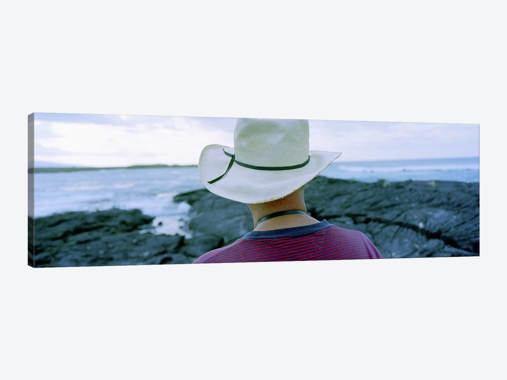 Man with Straw Hat Galapagos Islands Ecuador 1-piece Canvas Art Print