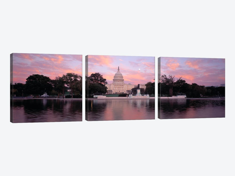 US Capitol Washington DC by Panoramic Images 3-piece Canvas Wall Art