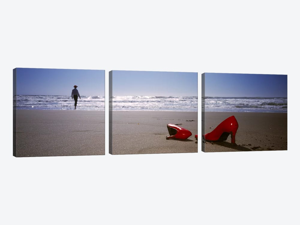 Red High Heels In Zoom, San Francisco, California, USA by Panoramic Images 3-piece Canvas Art Print