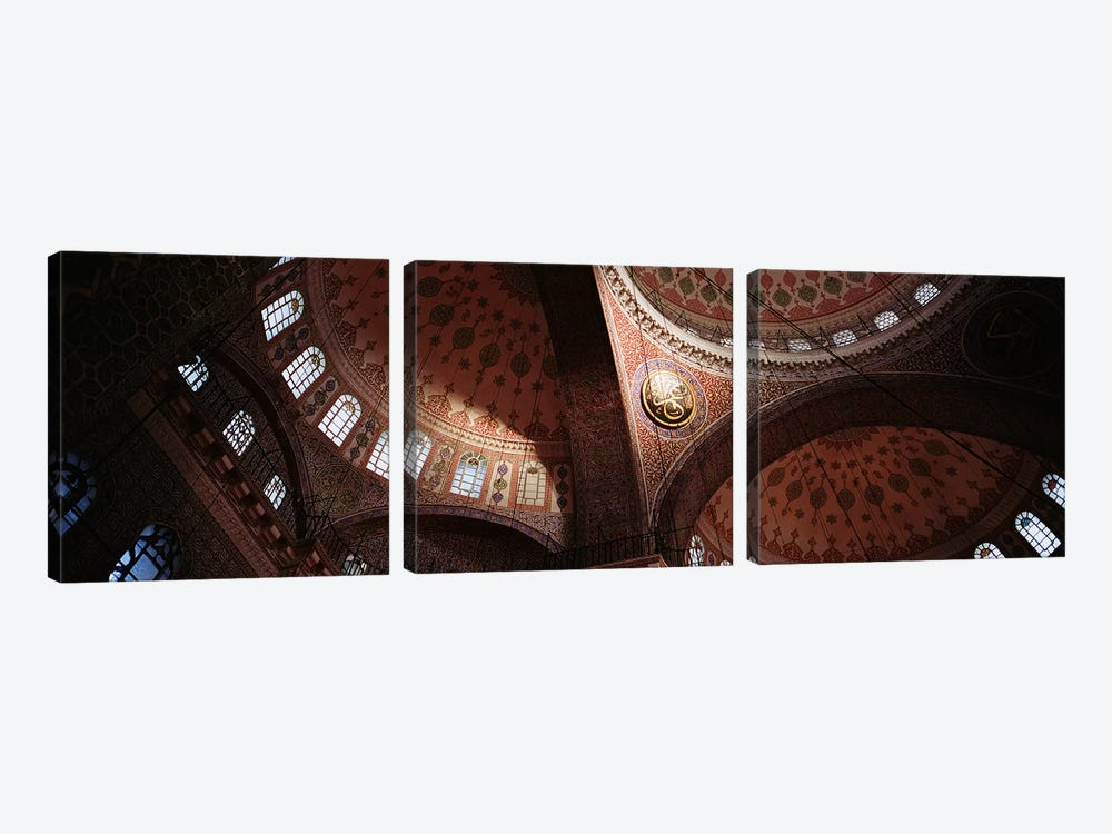 TurkeyIstanbul, Suleyman Mosque, interior domes by Panoramic Images 3-piece Art Print
